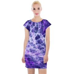 Abstract Space Cap Sleeve Bodycon Dress by Bajindul