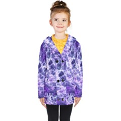 Abstract Space Kids  Double Breasted Button Coat by Bajindul