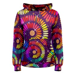 Abstract Background Spiral Colorful Women s Pullover Hoodie by Bajindul