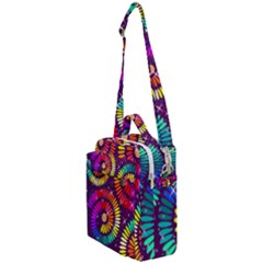 Abstract Background Spiral Colorful Crossbody Day Bag