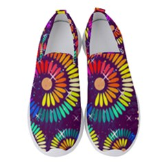 Abstract Background Spiral Colorful Women s Slip On Sneakers by Bajindul