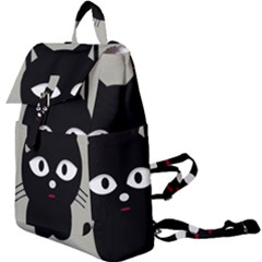 Cat Pet Cute Black Animal Buckle Everyday Backpack