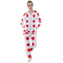 Heart Red Love Valentines Day Women s Tracksuit