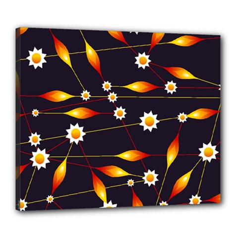 Flower Buds Floral Background Canvas 24  X 20  (stretched)