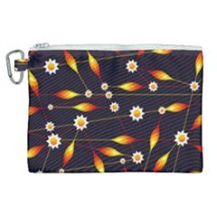Flower Buds Floral Background Canvas Cosmetic Bag (xl) by Bajindul
