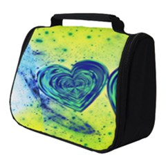 Heart Emotions Love Blue Full Print Travel Pouch (small)