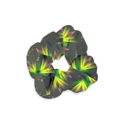 Floral Abstract Lines Velvet Scrunchie by Bajindul