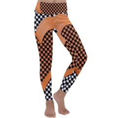 Heart Chess Board Checkerboard Kids  Lightweight Velour Classic Yoga Leggings