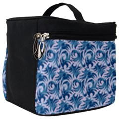 Blue Pattern Scrapbook Make Up Travel Bag (big)