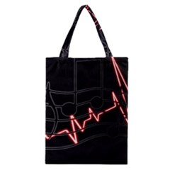 Music Wallpaper Heartbeat Melody Classic Tote Bag by Bajindul