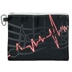 Music Wallpaper Heartbeat Melody Canvas Cosmetic Bag (xxl) by Bajindul