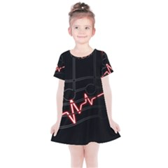 Music Wallpaper Heartbeat Melody Kids  Simple Cotton Dress by Bajindul