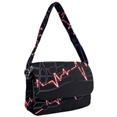 Music Wallpaper Heartbeat Melody Courier Bag