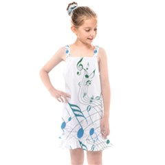 Music Notes Kids  Overall Dress