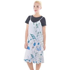 Music Notes Camis Fishtail Dress