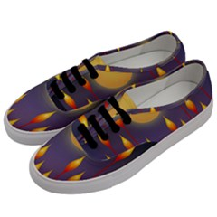 Night Moon Flora Background Men s Classic Low Top Sneakers by Bajindul