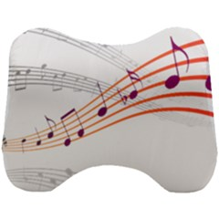 Music Notes Clef Sound Head Support Cushion