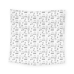 Music Notes Background Wallpaper Square Tapestry (small) by Bajindul