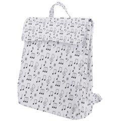 Music Notes Background Wallpaper Flap Top Backpack by Bajindul
