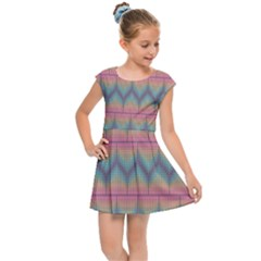 Pattern Background Texture Colorful Kids  Cap Sleeve Dress by Bajindul