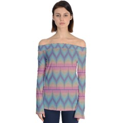 Pattern Background Texture Colorful Off Shoulder Long Sleeve Top