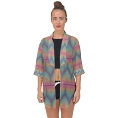 Pattern Background Texture Colorful Open Front Chiffon Kimono