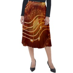 Music Notes Sound Musical Love Classic Velour Midi Skirt