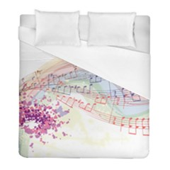 Music Notes Abstract Duvet Cover (full/ Double Size) by Bajindul