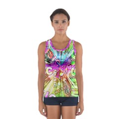 Music Abstract Sound Colorful Sport Tank Top  by Bajindul