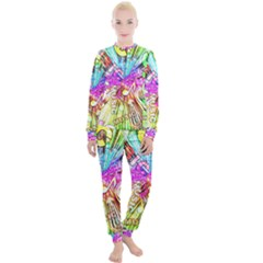 Music Abstract Sound Colorful Women s Lounge Set