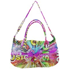 Music Abstract Sound Colorful Removal Strap Handbag