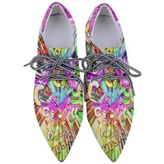 Music Abstract Sound Colorful Pointed Oxford Shoes