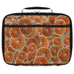 Oranges Background Texture Pattern Full Print Lunch Bag by Bajindul