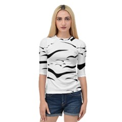 Sky Birds Flying Flock Fly Quarter Sleeve Raglan Tee by Bajindul