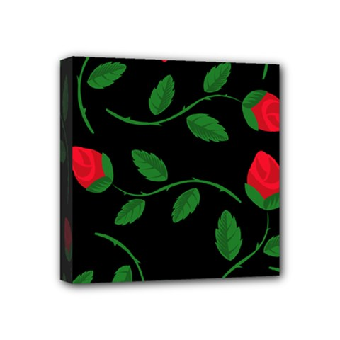 Roses Flowers Spring Flower Nature Mini Canvas 4  X 4  (stretched)