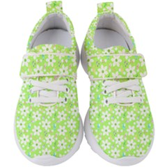 Zephyranthes Candida White Flowers Kids  Velcro Strap Shoes by Bajindul