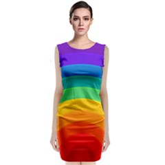 Rainbow Background Colorful Classic Sleeveless Midi Dress