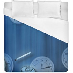 Time Clock Watch Hours Duvet Cover (king Size) by Bajindul