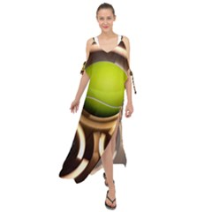 Sport Ball Tennis Golf Football Maxi Chiffon Cover Up Dress