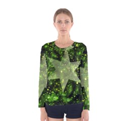 Star Blue Star Space Universe Women s Long Sleeve Tee by Bajindul