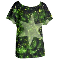 Star Blue Star Space Universe Women s Oversized Tee by Bajindul