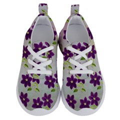 Purple Flower Running Shoes by Bajindul