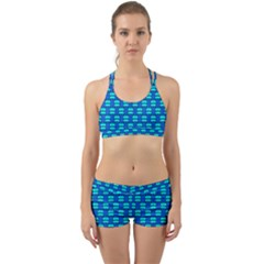 Pattern Graphic Background Image Blue Back Web Gym Set by Bajindul