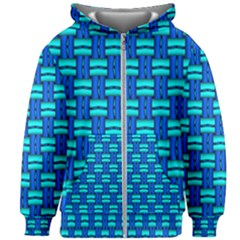 Pattern Graphic Background Image Blue Kids  Zipper Hoodie Without Drawstring by Bajindul