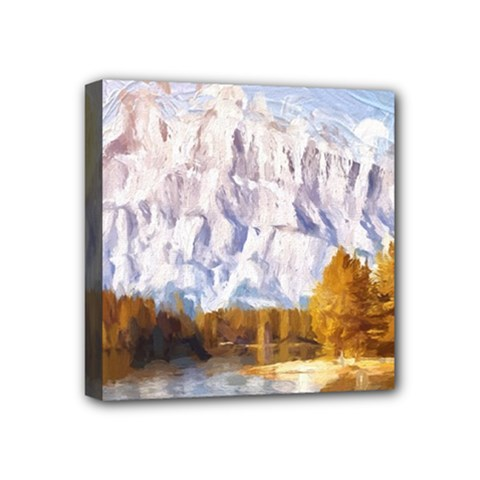 Painting Paint Landscape Nature Mini Canvas 4  X 4  (stretched) by Pakrebo