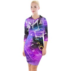 Ski Boot Ski Boots Skiing Activity Quarter Sleeve Hood Bodycon Dress by Pakrebo