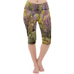 Outdoor Nature Natural Woods Lightweight Velour Cropped Yoga Leggings