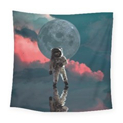 Astronaut Moon Space Planet Square Tapestry (large) by Pakrebo