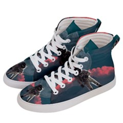 Astronaut Moon Space Planet Women s Hi-top Skate Sneakers by Pakrebo