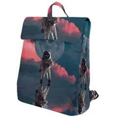 Astronaut Moon Space Planet Flap Top Backpack